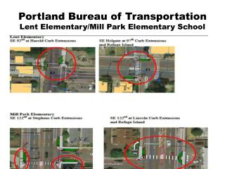 Portland Bureau of Transportation Lent Elementary/Mill Park Elementary School