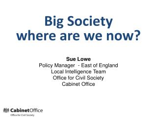 Big Society  where are we now?