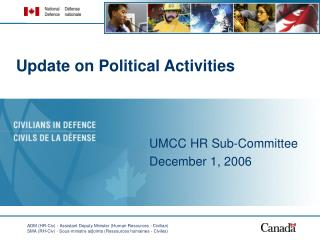 Update on Political Activities