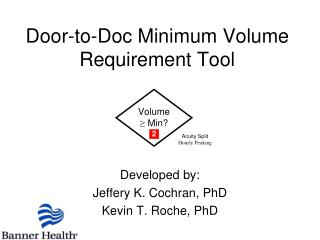 Door-to-Doc Minimum Volume Requirement Tool