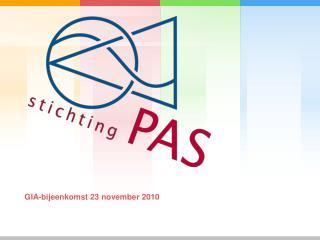 GIA-bijeenkomst 23 november 2010