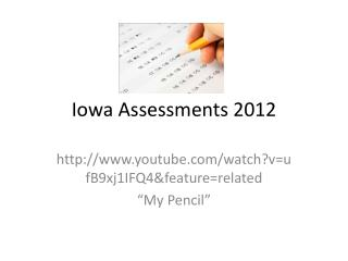 Iowa Assessments 2012