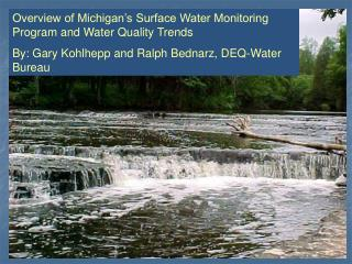 Overview of Michigan�s Surface Water Monitoring Program and Water Quality Trends
