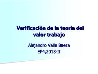 Verificación de la teoría del valor trabajo