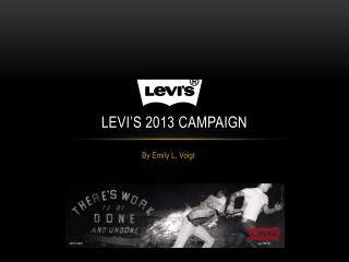 Levi's 2013 campaign