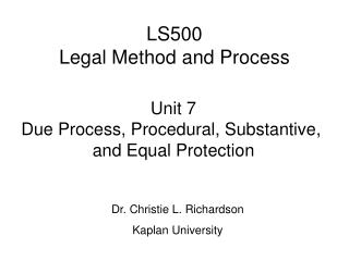 LS500 Legal Method and Process