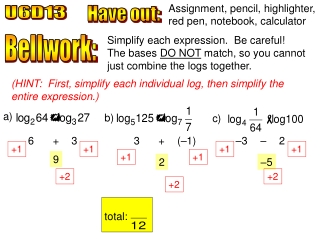 4.6 Apply Properties of Logarithms