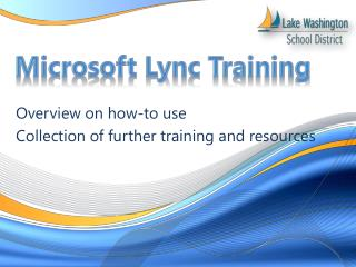 Microsoft Lync Training