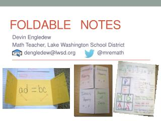 FOLDABLE   NOTES