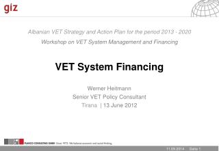 Albanian VET Strategy and Action Plan for the period 2013 - 2020