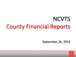 NCVTS County Financial Reports