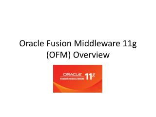 Oracle Fusion Middleware 11g OFM Overview