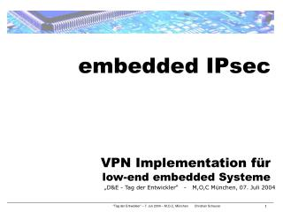embedded IPsec  VPN Implementation für low-end embedded Systeme