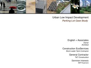 Urban Low Impact Development