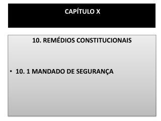 CAP�TULO X