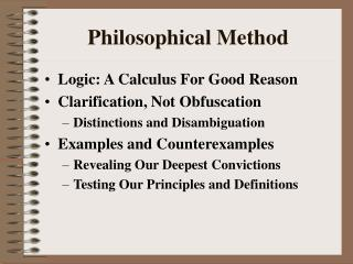 Philosophical Method
