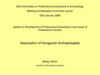 Association of Hungarian Archaeologists