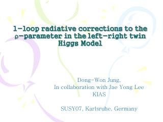 1-loop radiative corrections to the  ρ -parameter in the left-right twin Higgs Model
