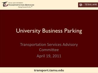 University Business Parking