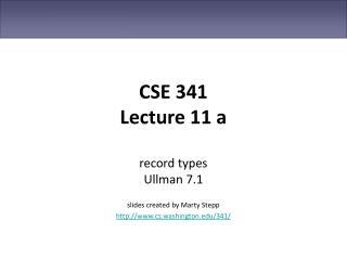 CSE 341 Lecture 11 a