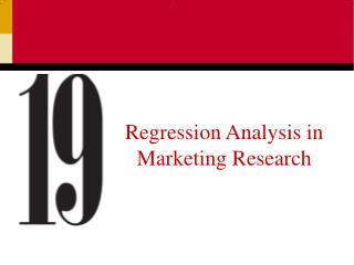 Regression Analysis in Marketing Research