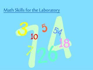 Math Skills for the Laboratory