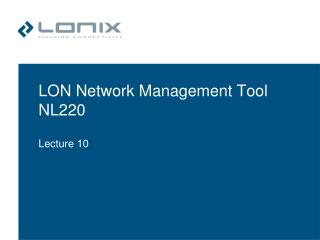 LON Network Management Tool NL220