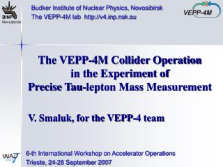 The VEPP-4M Collider Operation in the Experiment of  Precise Tau-lepton Mass Measurement