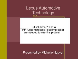 Lexus Automotive  Technology