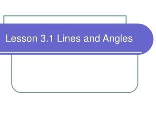 Relationships of angles and sides