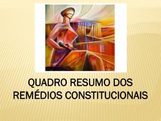 QUADRO RESUMO DOS REMÉDIOS CONSTITUCIONAIS