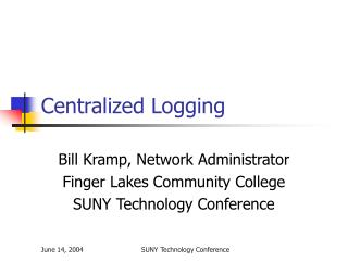 Centralized Logging