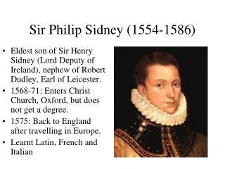 Sir Philip Sidney (1554-1586)