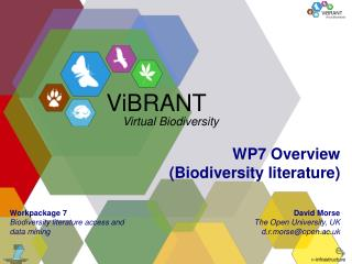 WP7 Overview (Biodiversity literature)