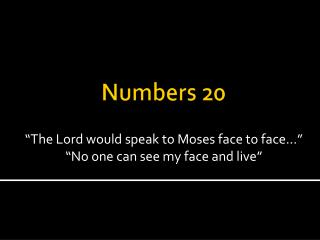 Numbers 20
