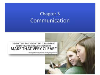 Chapter 3 Communication
