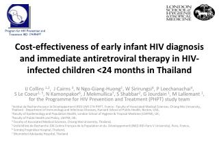Program for HIV Prevention and Treatment IRD 174/PHPT
