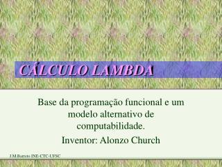 CÁLCULO LAMBDA