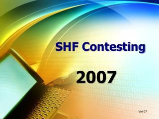 SHF Contesting