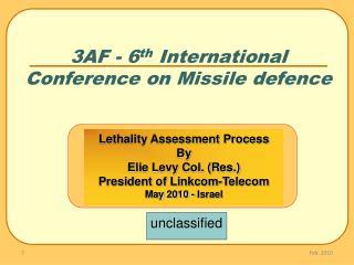 3AF - 6th International Conference on Missile defence