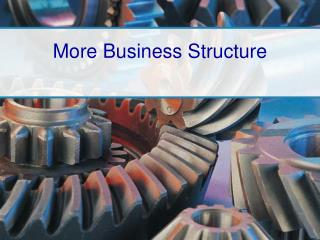 More Business Structure