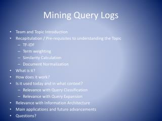 Mining Query Logs