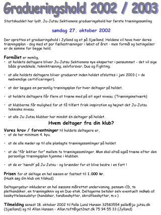 Gradueringshold 2002 / 2003