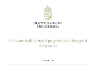 Innovatív foglalkoztatási programok és támogatási környezetük