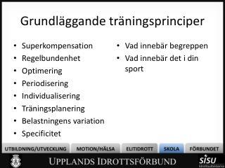 Grundläggande träningsprinciper