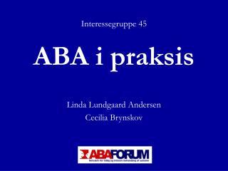 ABA i praksis