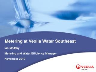 Metering at Veolia Water Southeast