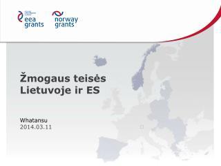 Žmogaus teisės Lietuvoje ir ES
