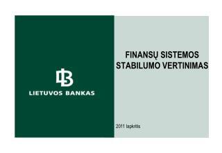 Finansų sistemos stabilumo  vertinimas