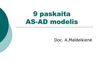 9 paskaita  AS-AD modelis
